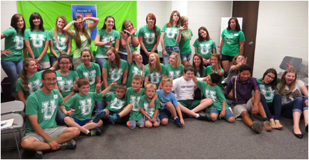 Campers and some of the Marshall University student volunteers