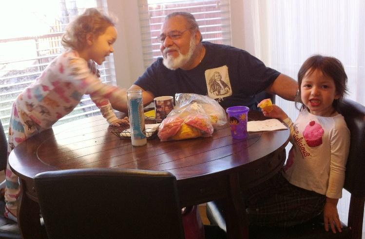 dad with julia and maya